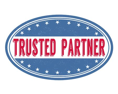 commercial sign: Trusted  partner grunge rubber stamp on white background, vector illustration