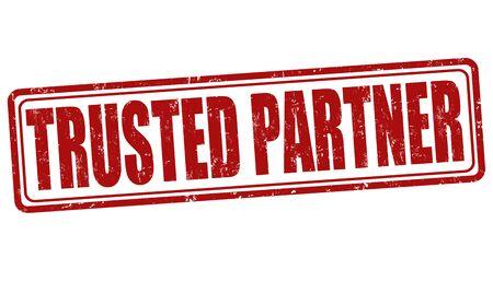 trusted: Trusted  partner grunge rubber stamp on white background, vector illustration
