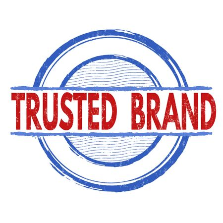 reliance: Trusted  brand grunge rubber stamp on white background, vector illustration Illustration