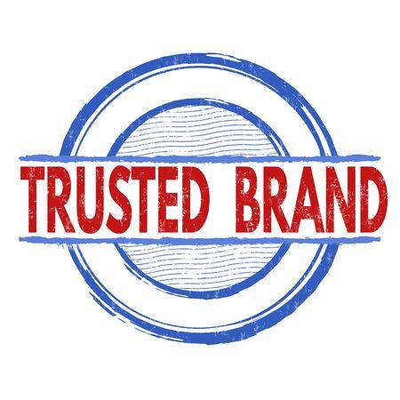 trusted: Trusted  brand grunge rubber stamp on white background, vector illustration Illustration