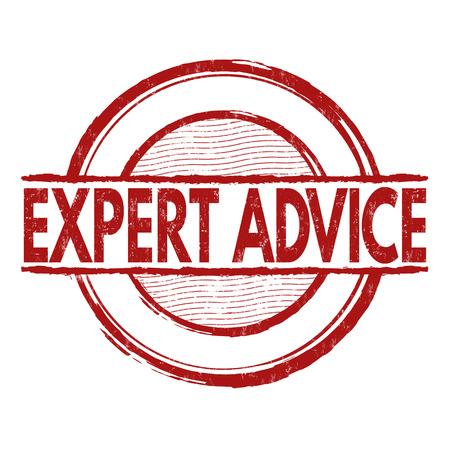 experte: Kompetente Beratung Grunge-Stempel auf wei�em Hintergrund, Vektor-Illustration