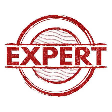 adept: Expert grunge rubber stamp on white background, vector illustration