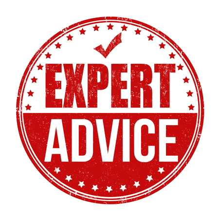 Expert advice grunge rubber stamp on white background, vector illustration