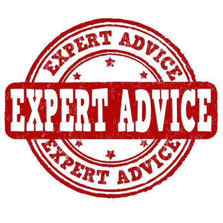 Expert advice grunge rubber stamp on white background, vector illustration