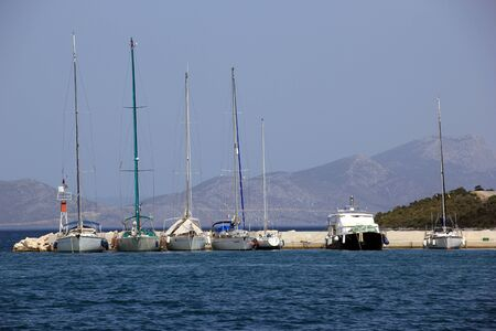 habour: Yachts and boats in greek habour