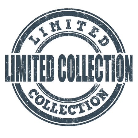 selected: Limited Collection grunge rubber stamp on white background, vector illustration Illustration