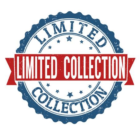 limited: Limited Collection grunge rubber stamp on white background, vector illustration Illustration