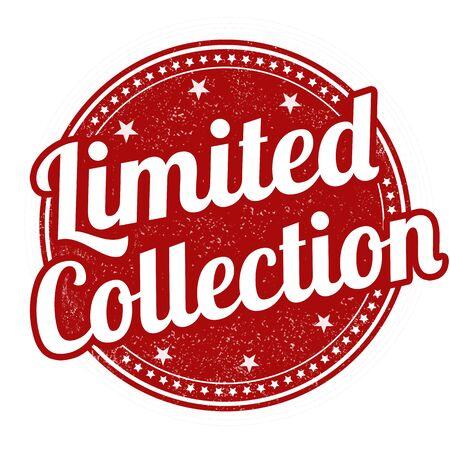 collection: grunge sello de goma Colección limitada en el fondo blanco, ilustración vectorial Vectores