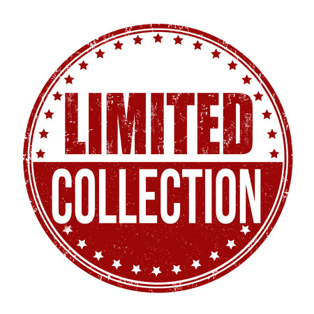 stamp collection: Limited Collection grunge rubber stamp on white background, vector illustration Illustration