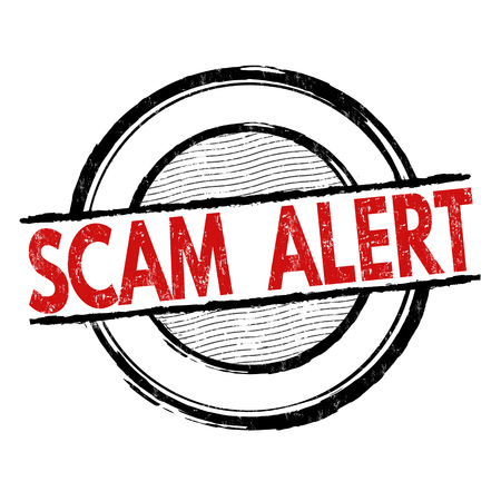 alertness: Scam alert grunge rubber stamp on white background, vector illustration