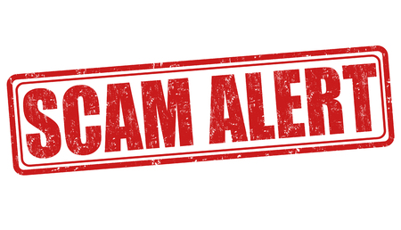 alert: Scam alert grunge rubber stamp on white background, vector illustration