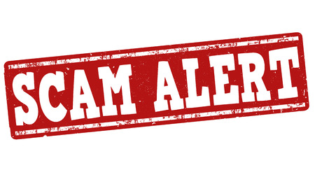 be careful: Scam alert grunge rubber stamp on white background, vector illustration