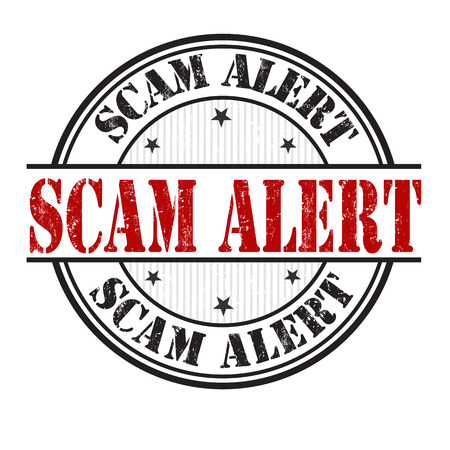 blackmail: Scam alert grunge rubber stamp on white background, vector illustration