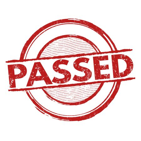 assured: Passed grunge rubber stamp on white background, vector illustration
