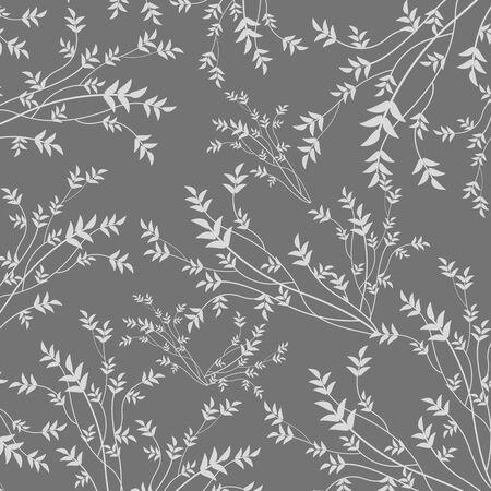 motif floral: Beauté motif floral sur fond gris, illustration vectorielle Illustration