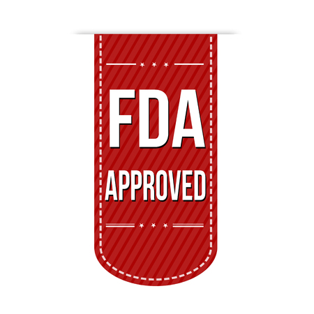 fda: FDA approved banner design over a white background, vector illustration