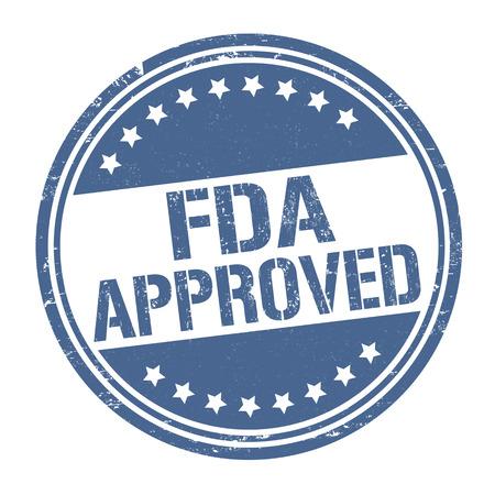 FDA goedgekeurd grunge rubber stempel op een witte achtergrond, vector illustratie