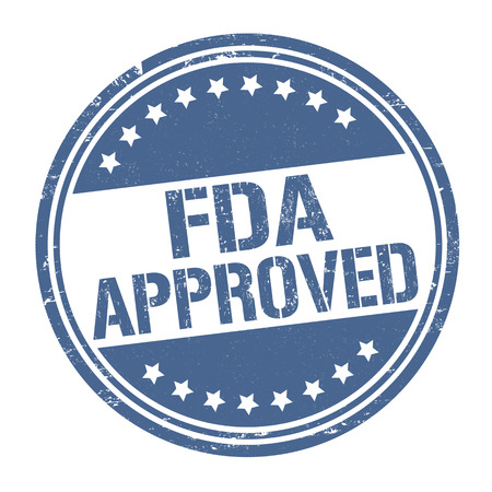 FDA approved grunge rubber stamp on white background, vector illustration Vettoriali