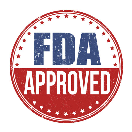 approval button: FDA approved grunge rubber stamp on white background, vector illustration Illustration