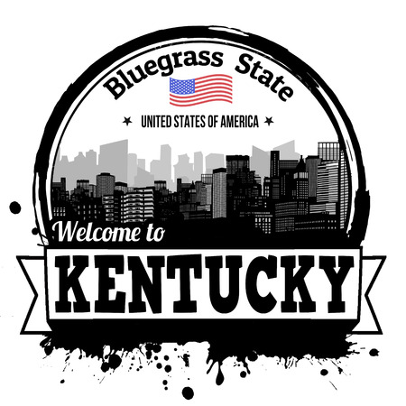 bluegrass: Kentucky vintage stamp with text Bluegrass State written inside, vector illustration