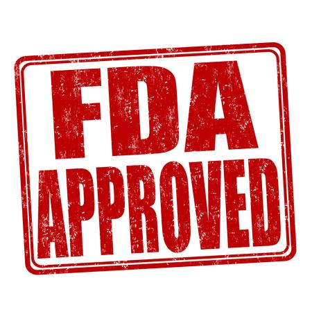 FDA genehmigt Grunge-Stempel auf weißem Hintergrund, Vektor-Illustration Standard-Bild - 46476646