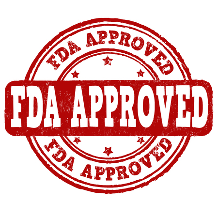 recognized: FDA approved grunge rubber stamp on white background, vector illustration Illustration