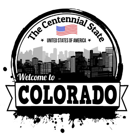 centennial: Colorado vintage stamp with text The Centennial State written inside, vector illustration Illustration