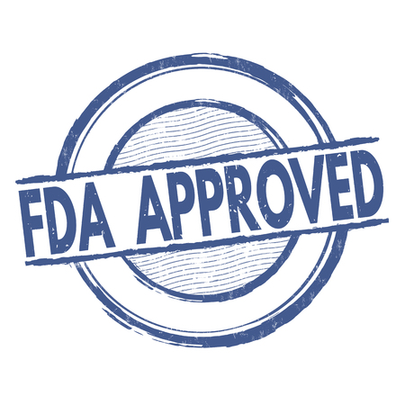 fda: FDA approved grunge rubber stamp on white background, vector illustration Illustration
