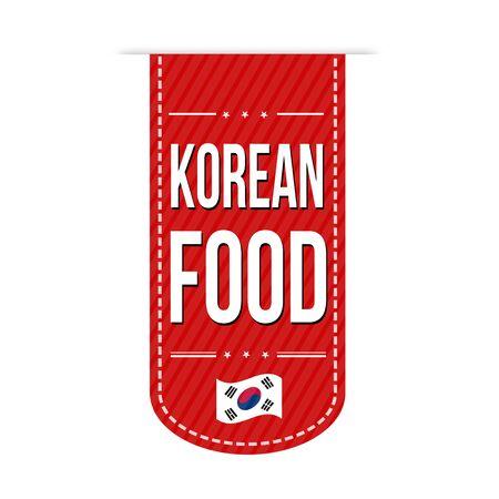 korean design: Korean food banner design over a white background, vector illustration