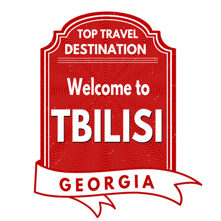 best location: Welcome to Tbilisi grunge rubber stamp on white background, vector illustration