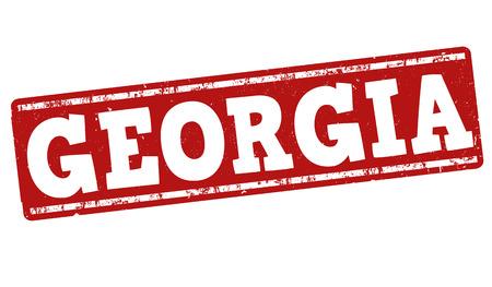 european culture: Georgia grunge rubber stamp on white background, vector illustration