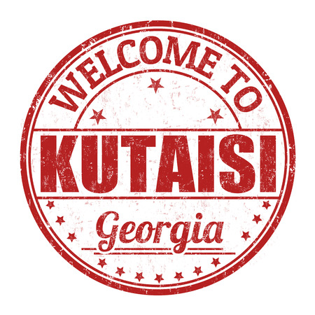 kutaisi: Welcome to Kutaisi grunge rubber stamp on white background, vector illustration