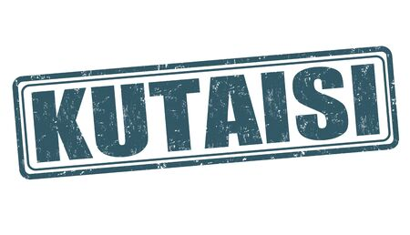 kutaisi: Kutaisi grunge rubber stamp on white background, vector illustration Vettoriali
