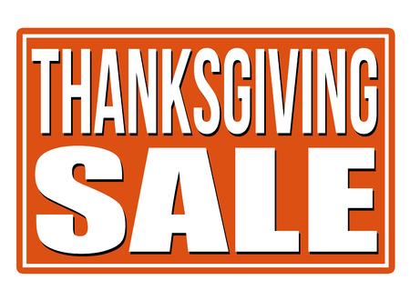 orange sign: Thanksgiving Sale orange sign isolated on a white background, vector illustration