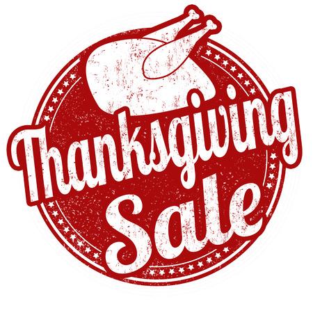Thanksgiving Sale grunge rubberen stempel op witte achtergrond, vectorillustratie