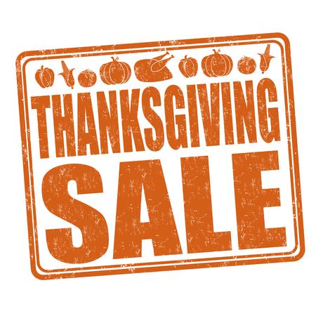 Thanksgiving Sale grunge rubber stamp on white background, vector illustration Illustration