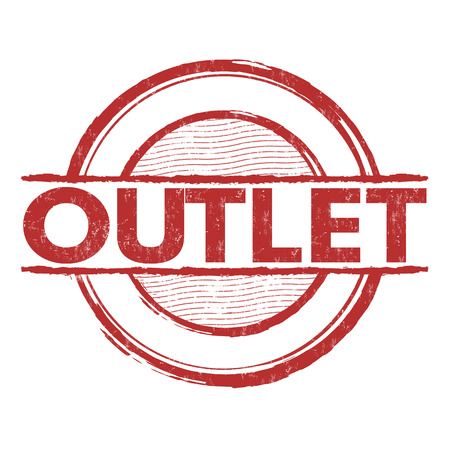 discount store: Outlet grunge rubber stamp on white background, vector illustration