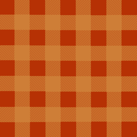 lumberjack: Orange lumberjack plaid seamless pattern, vector illustration