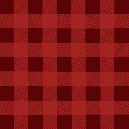 franela: Red lumberjack plaid seamless pattern, vector illustration Vectores