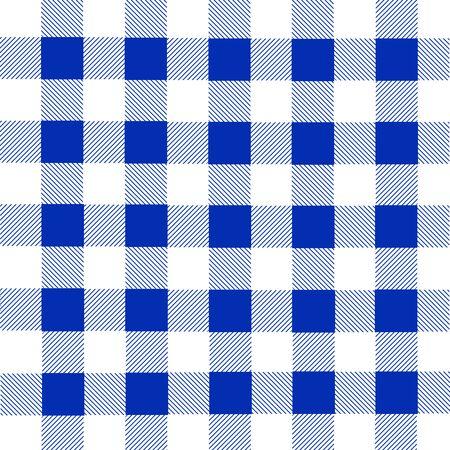 franela: Blue and white lumberjack plaid seamless pattern, vector illustration