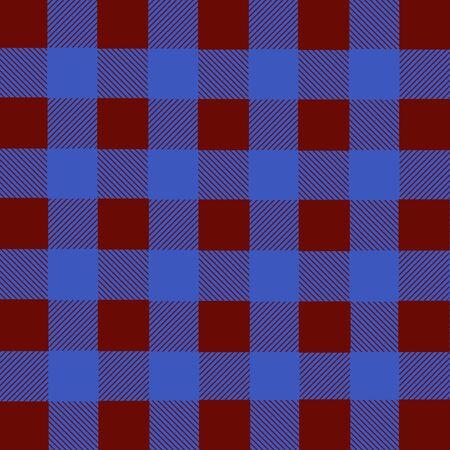 red plaid: Blue and red lumberjack plaid seamless pattern, vector illustration Illustration