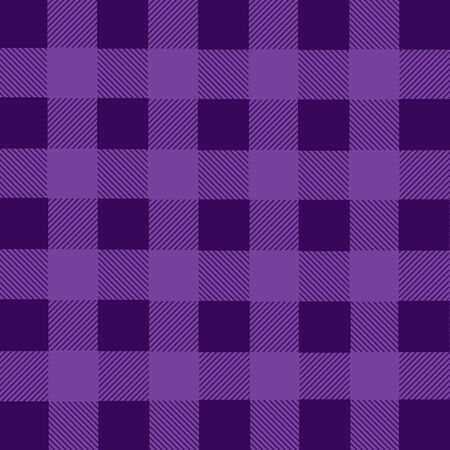 lila: Lila lumberjack plaid seamless pattern, vector illustration Illustration