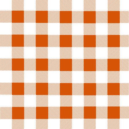 franela: White and orange lumberjack plaid seamless pattern, vector illustration