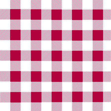 lumberjack: White and red lumberjack plaid seamless pattern, vector illustration Illustration