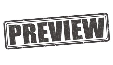 oversight: Preview grunge rubber stamp on white background, vector illustration Illustration