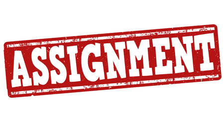 dissertation: Assignment grunge rubber stamp on white background, vector illustration Illustration