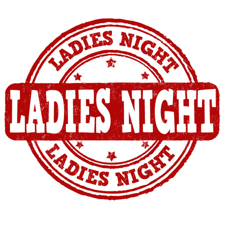 teenagers only: Ladies night grunge rubber stamp on white background, vector illustration