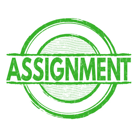 assignment: Assignment grunge rubber stamp on white background, vector illustration Illustration