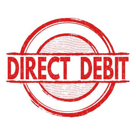 debit: Direct debit grunge rubber stamp on white background, vector illustration Illustration