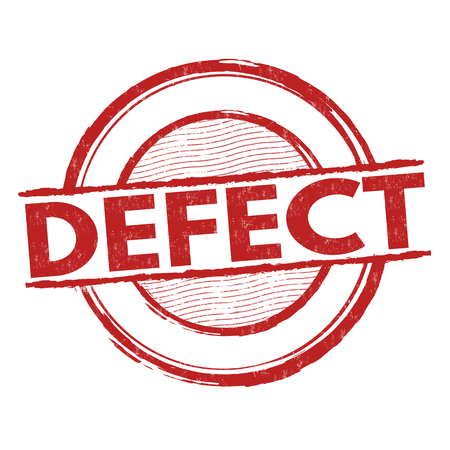 hacked: Defect grunge rubber stamp on white background, vector illustration